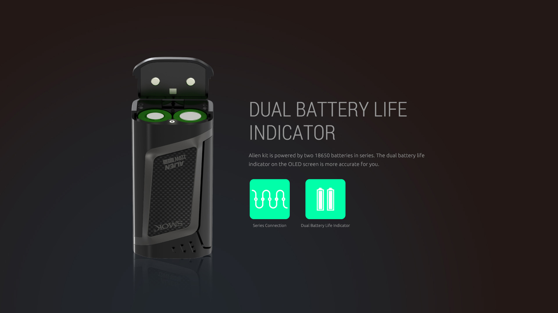double indicateur du niveau de batterie
