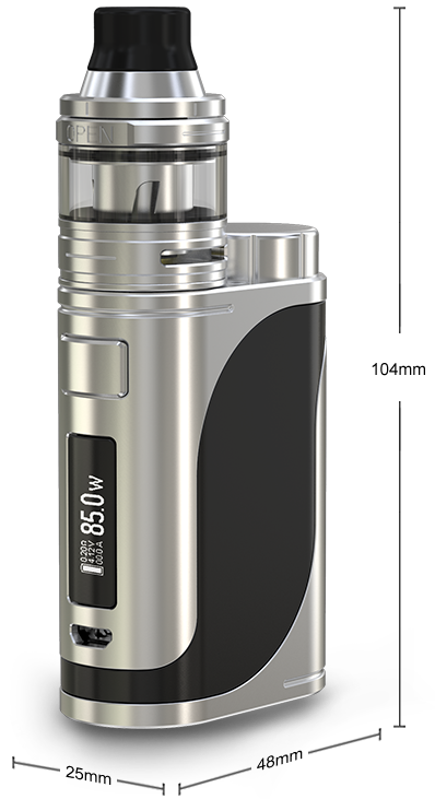 dimensions du kit istick pico 25 de eleaf