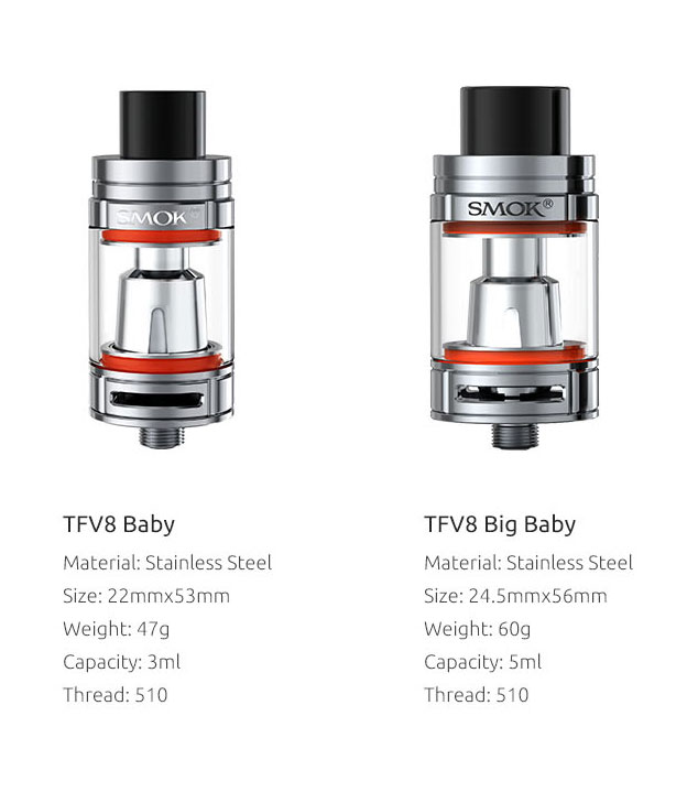 différence entre tfv8 baby et tfv8 big baby