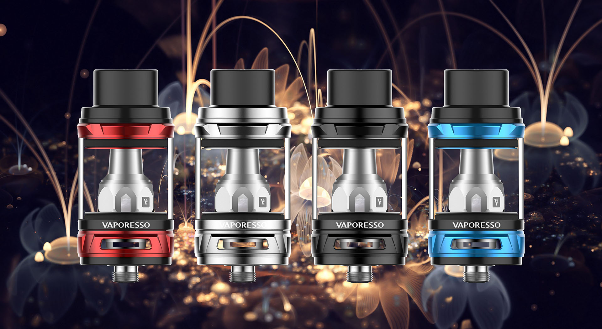 photo des 4 couleurs du Tank NRG de Vaporesso